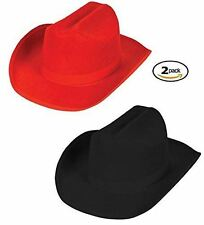 Child Western Hat - Kid Cowboy Costume - 2 pack felt hats by Funny Party Hats