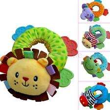 MagiDeal Baby Plush Handbells Teether Toy Soft Rattle Educational Comforting Toy