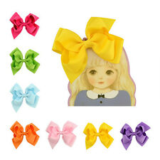 Alligator Clips Baby Big Grosgrain Ribbon Girls 1Pair Bows Hair Clip Boutique