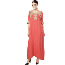 Women's Maxi Long sleeve long Dress moroccan Kaftan Caftan Jilbab Islamic abaya