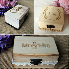 Personalized  Wedding Ring Bearer Box of Love Birds Personalized Wood Ring Box