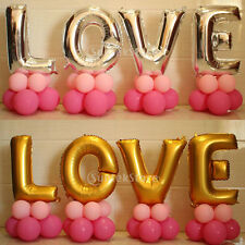 45x LOVE Foil Helium Latex Balloons Wedding Bridal Party Decorations Gold Silver