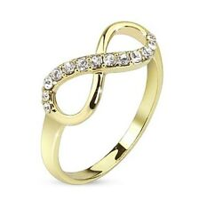 Gorgeous 14K Gold Plated CZ Infinity Ring Size 5-9