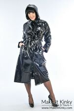 Modern Girl Rain Mac - Plastic PVC Clothing Fetish Kinky Gear Rain Coat Outfit