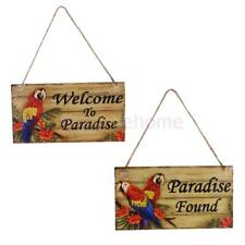 MagiDeal Welcome to Paradise/Paradise Found Wood Board Wedding Shop Hanging Sign