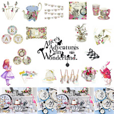 ALICE IN WONDERLAND TRULY MAD HATTER VINTAGE TEA PARTY! CUPS PLATES DECORATIONS
