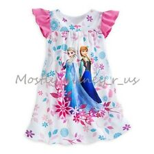 Disney Store Exclusive Frozen Elsa Anna Princess Nightshirt Pajamas Nightgown PJ