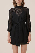 NEW KEEPSAKE LOVERS LONG SLEEVE MINI DRESS black