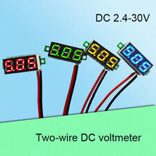 2 Wire DC 2.4-30V LED Panel Digital Display Voltage Meter Voltmeter PICK