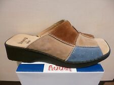 Jenny by Ara Mules Mules brown/beige/blue Leather Leather insole NEW