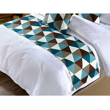 Hot Bed Runner Plaid Pattern Home Hotel Bed Flag Washable Pillowcase Table Cover