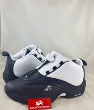 NEW Reebok ANSWER IV STEPOVER Allen Iverson 4 White Black Navy Blue V55619 Shoes