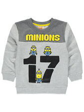 George Boys Kids Official Despicable Me 3 Minions Sweatshirt Jumper Top