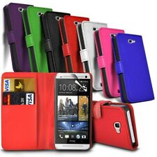 HTC One X10 - Leather Wallet Card Slot Book Pouch Case Cover