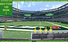 4 Front row Kansas City Chiefs at New York Jets tickets section 149 row 1