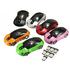 1Pcs 1800DPI For Laptop New USB 2.4G Car Shaped PC Mouse Optical Wireless Mice