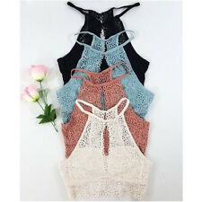 Women Fashion Lace Summer Vest Top Sleeveless Blouse Casual Tank Tops T-Shirt
