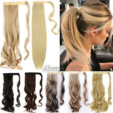 Real Wrap Around THICK Ponytail Clip In Hair Extensions Fake Hair As Human Hair