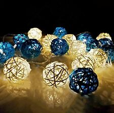 3M 20LED Rattan Ball String Lights Fairy Lighting Lamps Christmas Decoration