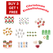 One pack of  Christmas Embellishments from Assorted Design A