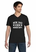 New Dad 2018 Rookie Department Gift for New Father V-Neck T-Shirt Father's Day