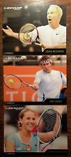 NEW DUNLOP TENNIS PROMOTIONAL POSTCARDS JOHN MCENROE PAT CASH DOMINIKA CIBULKOVA