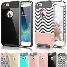 PC Shockproof Hybrid Rubber Hard Cover Case for iPhone 6 6S 7 Plus SE 5S 5C 4S