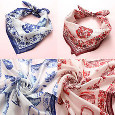 Chinese Classic Style Silk Super Soft Scarf Handkerchief Kerchief Towel Hanky