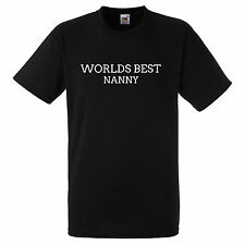 WORLDS BEST NANNY BLACK T SHIRT