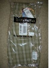 NWT QUIKSILVER Hooligan olive PLAID adjustable waist light SHORTS BOYS kid 7X/XL