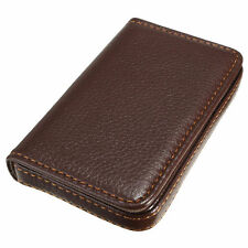 Chic Luxury Mens Leather Business Credit Card Name ID Credit Card Holder Wallet