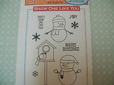 """GINA K """"SNOW ONE LIKE YOU"""" SET OF 9 DEEPLY ETCHED RED RUBBER STAMPS"""