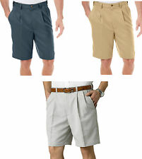 Mens Haggar Cool 18 Performance Wear Pleated Shorts Size 44 NWT Expandable