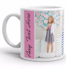 PERSONALISED MUG 4 PHOTO COLLAGE WITH YOUR TEXT IDEAL GIFT TEA COFFEE CUP