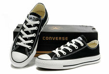 MENS GUYS CONVERSE  OX ALL STAR BLACK CHUCK TAYLOR SKATER SHOES SNEAKERS NEW