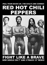 RED HOT CHILI PEPPERS POSTER (59x84cm) FIGHT LIKE A BRAVE PICTURE PRINT NEW ART