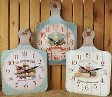 French Wooden Chopping Board Country Kitchen Wall Clock Olive Oil Cakes Jams