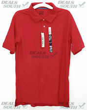 New Boys CHEROKEE School Uniform Polo Shirt Short Sleeve Red  XL XXL