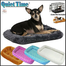 Deluxe Bolster Pet Ultra Soft Bed Small Extra Large Dogs Cats Bed In Dog Crates