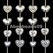 Tibetan Silver Heart Metal Pendant Necklaces Connector Space Beads Findings