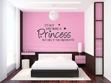 its not easy being a princess wall art vinyl sticker for Girls bedroom