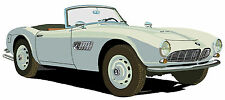 BMW 507 sports car canvas art print by Richard Browne