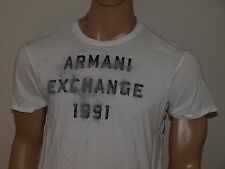 Armani Exchange Authentic AX Faded Logo T Shirt White NWT