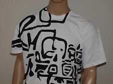 Armani Exchange Authentic Abstract Logo T Shirt White NWT