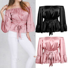 Women Off The Shoulder Loose Tops Blouse Hoilday Casual Sexy T-Shirt Hot Summer