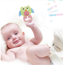 New Infant mini smiling owl baby toy rattle crinkle rings hang for child gift