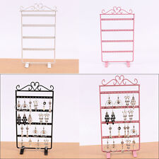 Earrings Jewelry Display Rack Mini Metal Stand Holder Storage Showcase 48 Holes