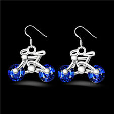 Design Gift Earring Earring Women Bike Jewelry New Bicycle 1Pair Crystal