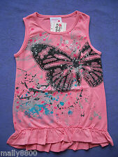 """Funky Babe - Girls - Top - Tshirt - """"BUTTERFLY"""" - Size 3, 4, 5, 7"""