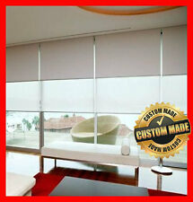 NEW! Custom Made Dual Double Roller Blinds 610 x 2100 Blind Blockout & Sunscreen